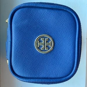 Tory Burch Saffiano Blue Coin Case